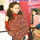 Leisure Arts Ponchos for Kids 6 Designs, 3 to Knit and 3 to Crochet