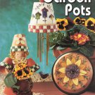 Leisure Arts Garden Pots to Decorate 16 Designs