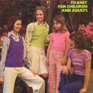 Leisure Arts Fun Tops to Knit for Children and Adults - 2 Designs in Worsted Weight Yarn