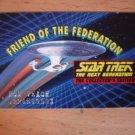 1995 STAR TREK The Next Generation Friend of the Federation Membership Card