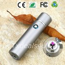 Matte Silver Dual Arc Electric USB Lighter Rechargeable Plasma Windproof Flameless Cigar Pipe