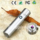 Silver Dual Arc Electric USB Lighter Rechargeable Plasma Windproof Flameless Cigar Pipe