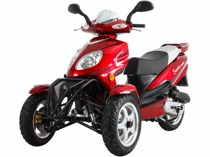 Sunny 50cc Two Front Wheels Reverse-Trike Scooter MC-D50TKA Price 450usd