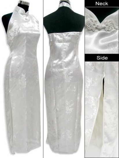 Chinese Backless Dress: White
