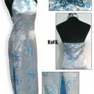 Chinese Backless Dress: White and Blue