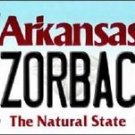 "Arkansas Vanity License Plate Tag 6""x 12""  Razorbacks NCAA Team Metal Auto"