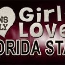 """This Girl Loves FSU License Plate Tag 6""""x 12"""" NCAA Florida State  Metal Auto"""