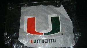 NCAA Miami  See-All Clear Tote Bag Hurricanes Black Handles New UM Orange Green