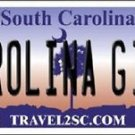 "NCAA Carolina Girl Vanity License Plate Tag 6""x 12"" Sports Tech  Metal Auto New"