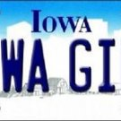 "Iowa Girl  Vanity License Plate Tag 6""x 12"" NCAA Hawkeyes Metal Auto Ohio State"