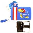 NCAA Jayhawks Shell Wristlet Wallet Purse Blue Phone Kansas Team Logo Woman UK