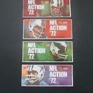 1972 NFL Football Player Stamps,Sunoco - Lot of 4 Unopened Original  Cowboys