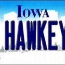 "Iowa Go Hawkeyes Vanity License Plate Tag 6""x 12"" NCAA  Metal Auto"