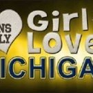 """This Girl Loves Michigan License Plate Tag 6""""x 12"""" NCAA Wolverines  Metal Auto"""