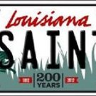 "Nfl Saints Vanity License Plate Tag New Orleans State  6""x 12""  Metal Auto Brees"