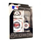 MLB Twins (Baby Fanatic) Infant Set Bottle Bib Pacifier BPA Minnesota Newborn