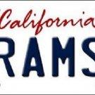 "NFL Rams Vanity License Plate Tag  6""x 12""  Metal Auto Los Angeles Gurley Sports"