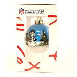 Eagles NFL Glass Christmas Ornaments Hand Painted Collectors NIB Philadelphia
