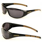 New Orleans Saints NFL 3 Dot Wrap Sunglasses UV 400 Black Gold Licensed  Brees