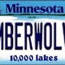 "NBA Timberwolves Vanity License Plate Tag Miami 6""x 12"" Metal Auto  New USA"