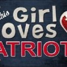 "This Girl Loves Her Patriots License Plate Tag 6"" x 12"" NFL Brady Metal Auto"