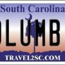 Columbia  South Carolina Vanity License Plate Tag Gamecocks Team Metal Auto NCAA
