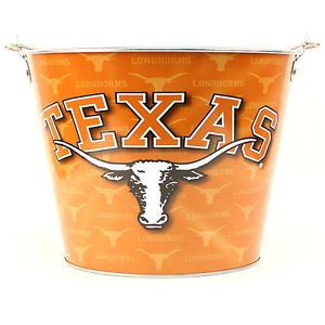 NCAA Longhorns Full Color Team Logo Aluminum Beer Bucket Texas Bevo Orange UT