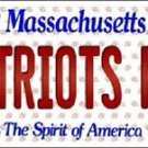 "Patriots Fan Vanity License Plate Tag New England 6""x 12"" Metal NFL Auto Truck"