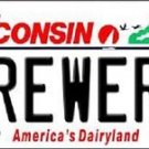 "MLB Brewers Vanity License Plate Tag  6""x 12""  Metal Auto Milwaukee Braun New"