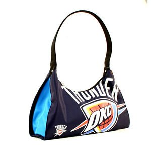 NBA OKC Thunder Big Logo Purse  Hobo - New Blue Basketball Purse Oklahoma City