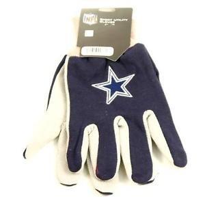 NFL Dallas Cowboys Sport Gloves Garden Utility Grip Team  Blue Grey Logo Elliot