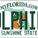 Miami Dolphins Florida State Background  Metal License Plate Tag Nfl 12 x 6 New