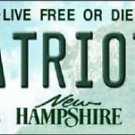 NFL New England Patriot State Background Metal License Plate Tag New Hampshire