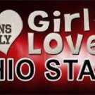"This Girl Loves Ohio State License Plate Tag 6""x 12"" NCAA Buckeyes Metal Auto"
