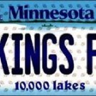 "Vikings Fan Vanity License Plate Tag Minnesota 6""x 12""  Metal Auto Peterson Nfl"