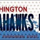 "Seahawks Fan Vanity License Plate Tag Seattle  6""x 12"" Metal Nfl Auto Wilson"