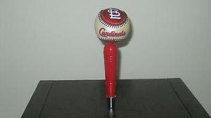 MLB St Louis Cardinals KEGERATOR BEER TAP HANDLE Baseball Bar Busch Holiday Brew