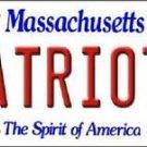 NFL New England Patriot State Background Metal License Plate Tag Brady 12 x 6
