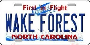 """Wake Forest Vanity License Plate Tag 6""""x12"""" College Metal Auto Deacon NCAA Wall"""