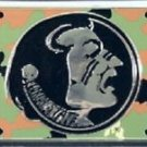FLORIDA STATE LICENSE PLATE CAR TRUCK TAG SEMINOLES CAMO METAL EMBOSSED NCAA