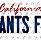 "Mlb Giants Fan Vanity License Plate Tag  6""x 12"" Metal Auto San Francisco Possey"
