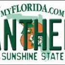 """NHL Panthers Vanity License Plate Tag  6""""x 12"""" Metal Florida Auto Cup Ice New FL"""