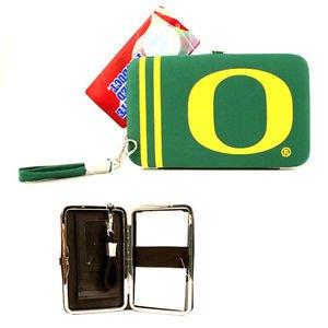 NCAA Oregon Shell Wristlet Wallet Purse  Red Phone Ducks Team Logo Woman Green
