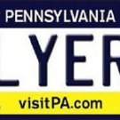 "NHL Flyers  Vanity License Plate Tag  6""x 12"" Metal Philadelphia Auto Cup New PA"