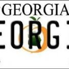 "NCAA Georgia Vanity License Plate Tag 6""x 12"" Bulldogs  Team Metal Auto UGA"