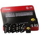 NCAA Iowa Hawkeye Licensed Team Domino Set in Metal Gift Tin Game School Big Ten