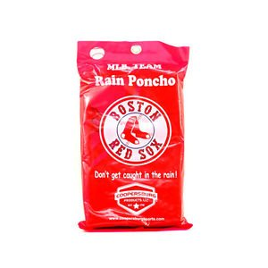 MLB  Red Sox Team Rain Poncho - Boston  Baseball-2 Pack New Red Fenway Champions