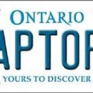 "NBA Raptors Vanity License Plate Tag Toronto 6""x 12"" Metal Auto TOR Playoffs"
