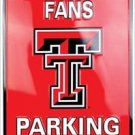 NCAA TEXAS TECH FANS NEW PARKING ONLY EMBOSSED SIGN 12X18 MAN CAVE RAIDER SCHOOL