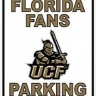 CENTRAL FLORIDA FANS UCF PARKING ONLY EMBOSSED SIGN 12X18 MAN CAVE COLLEGE NCAA